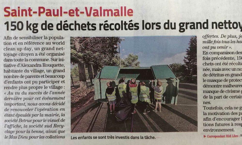 Opération ramassage des déchets à Saint-Paul-et-Valmalle
