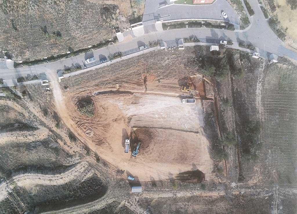 Vue aérienne du dépot Sud Recyclage en Hérault