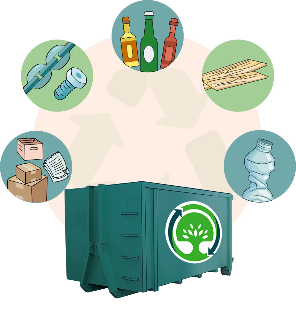 Recyclage entreprise Tri 5 flux matiere - Destruction papier Montpellier